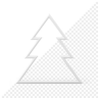 Рождественская елка минималистичный 3d значок