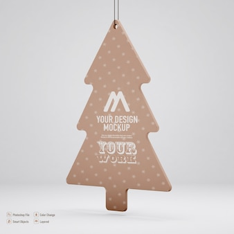 Christmas tree mockup isolated