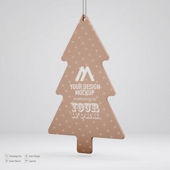 分離されたクリスマスツリーのモックアップ