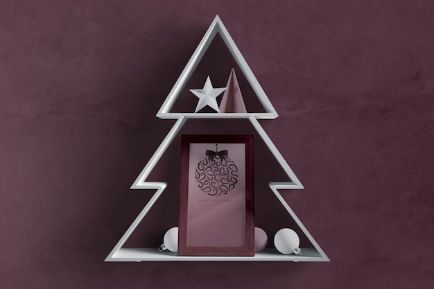 Christmas tree shape with frame inside