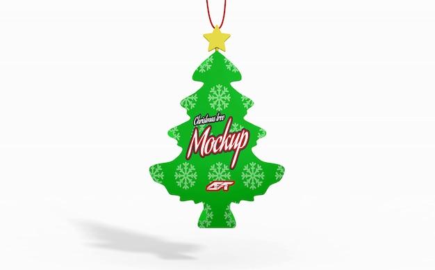 Christmas tree toy mockup