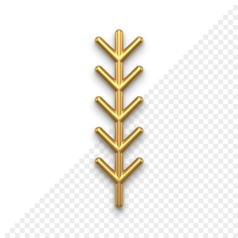 Christmas tree twig 3d icon