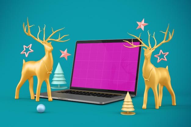 Christmas website mockup