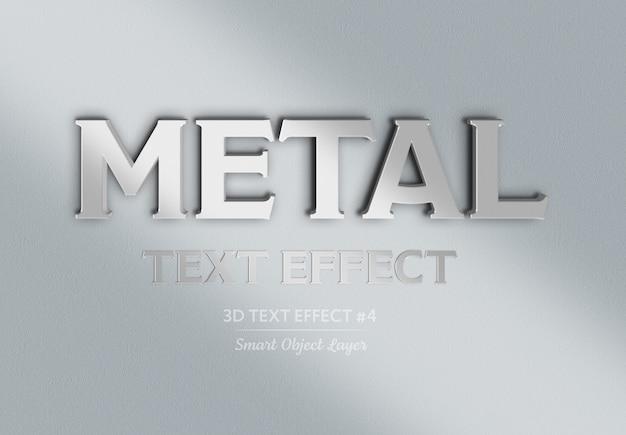 3d-эффект хромированного металла