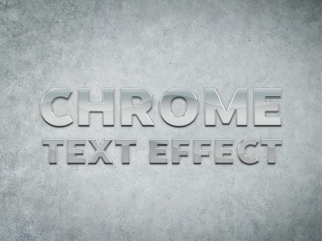 Chrome metal sculpted text effect