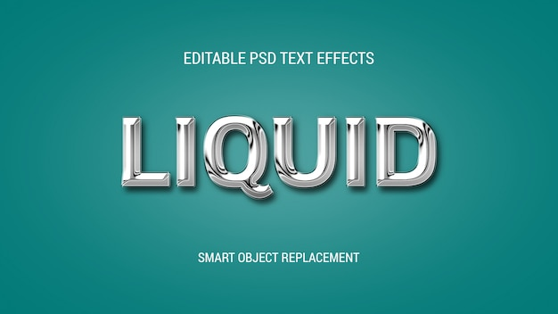 Chrome style 3d text effects editable