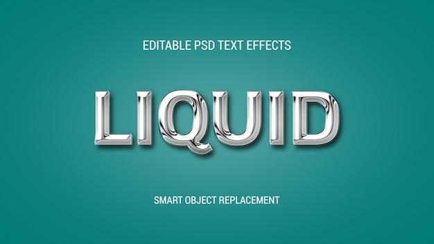 Редактируемые текстовые эффекты в стиле chrome