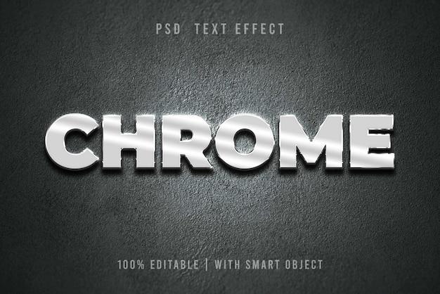 Редактируемый эффект chromium text