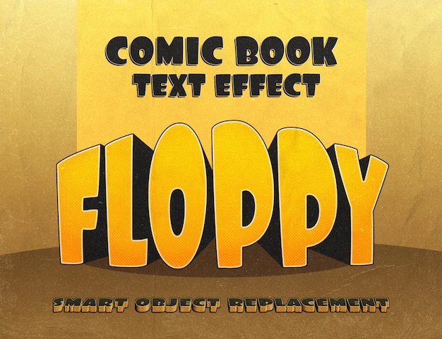 Chubby text effect: vintage comics style