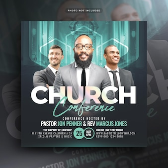 Church conference flyer social media post web banner