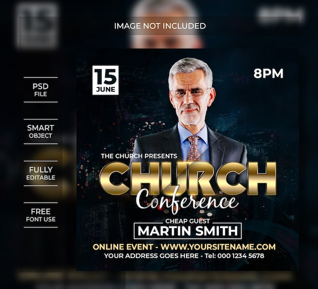 Church conference social media instagram post
