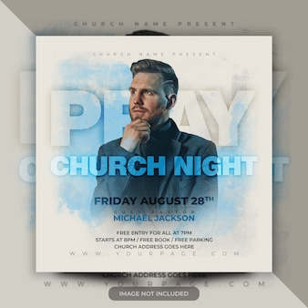 Church flyer- pray for the world