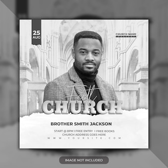 Church flyer premium psd