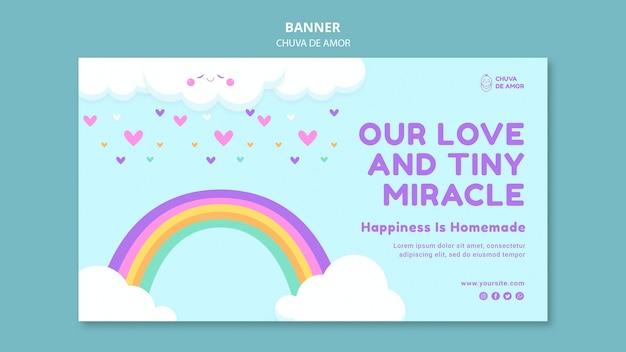 Chuva de amor banner template