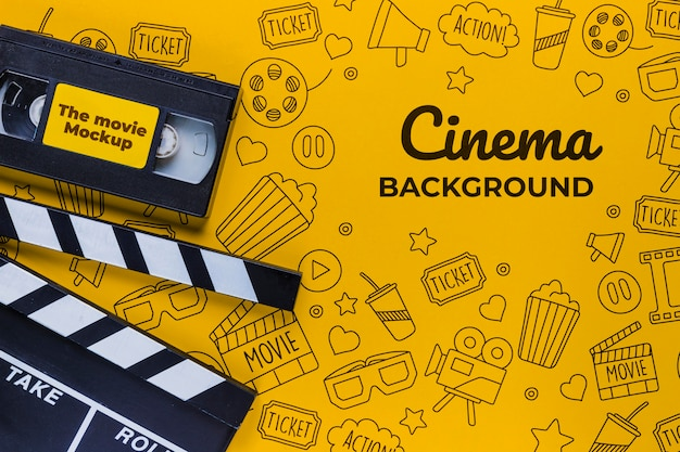 Cinema background concept old tape