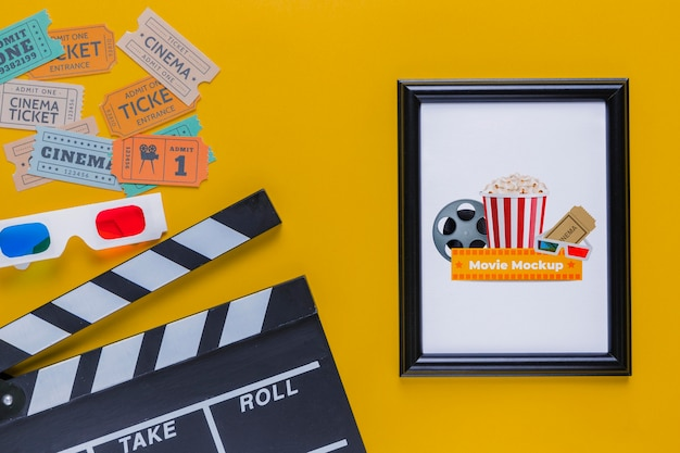 Cinema concept colorful tickets