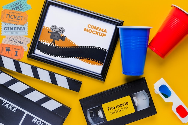 Cinema items mock-up concept