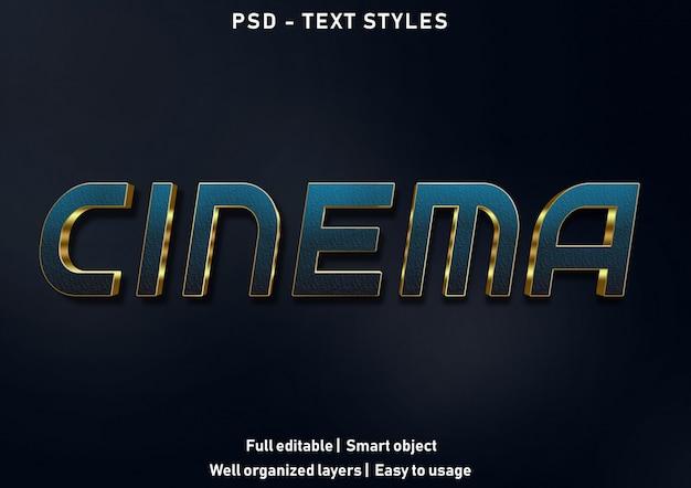 Кино текстовые эффекты стиль редактируемые psd