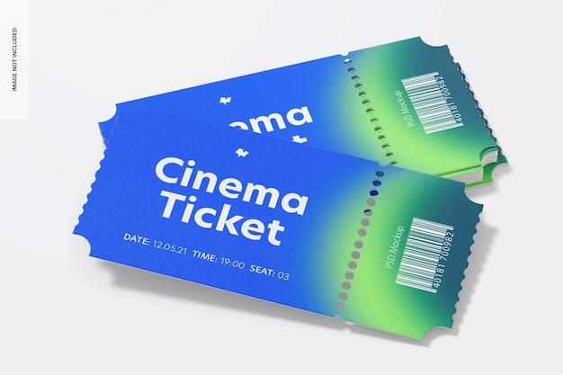 Mockup di biglietti per il cinema