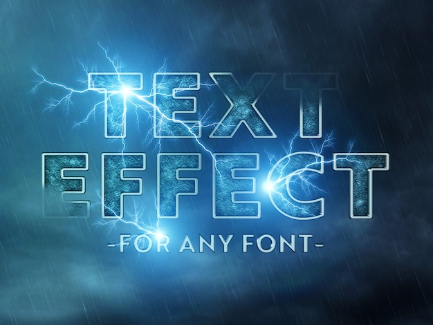 Cinematic text effect mockup