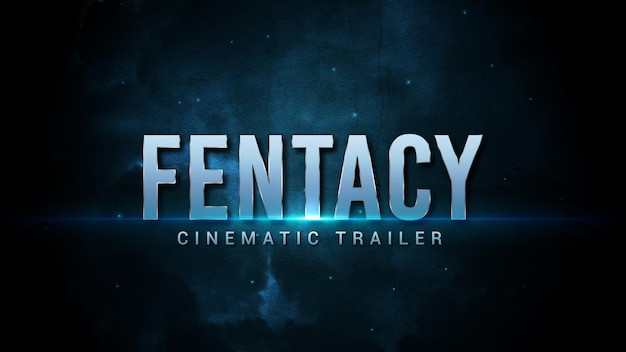 Cinematic title template in abstract background