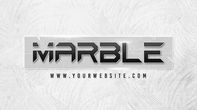 Cinematic titles template with marble effect and background