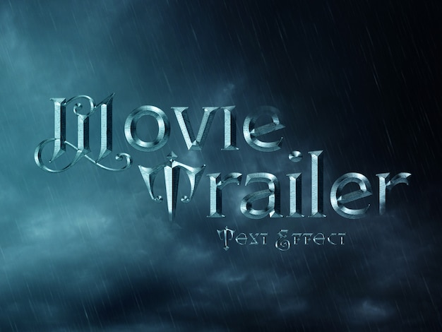 Cinematic wizard text effect