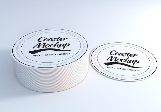 Circle coaster table mockup