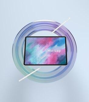 Supporto in vetro circle per tablet