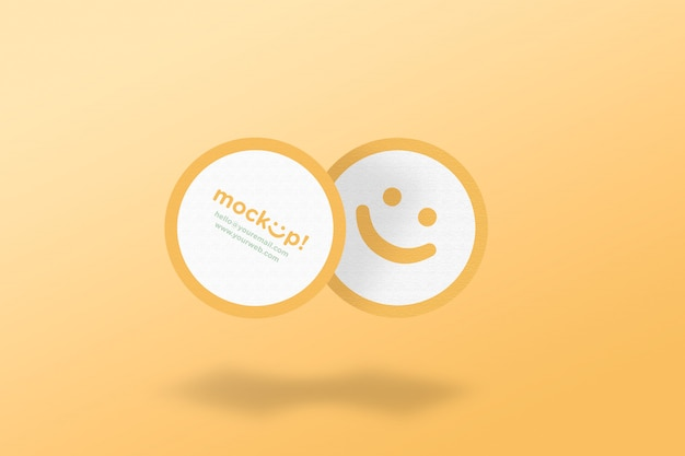 Circle mock up business card
