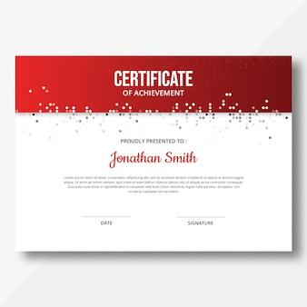 Шаблон сертификата мозаики кругов