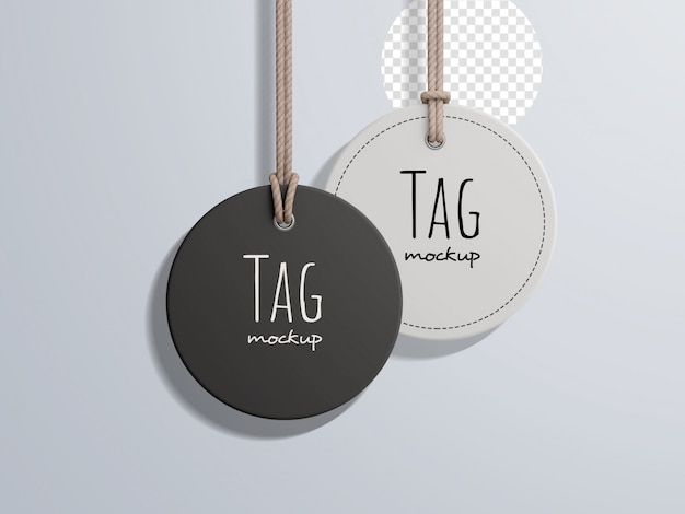 Circular fashion price label tag mockup