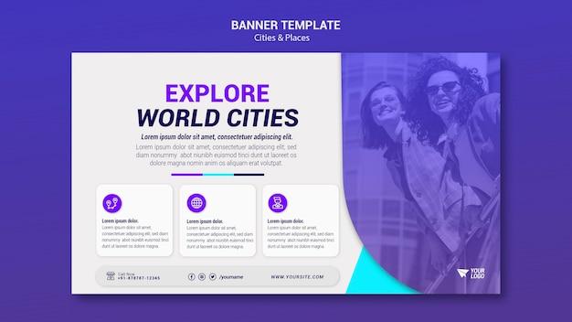 Banner di città e luoghi