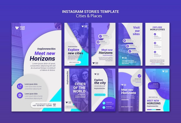 Cities and places instagram stories