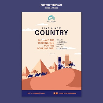 Cities and places poster template