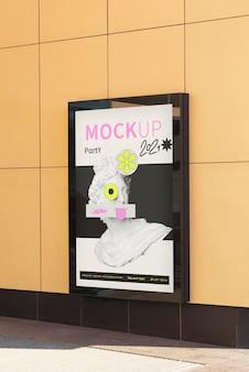 市の看板デザインのモックアップ