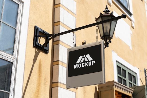 Mockup di cartelli commerciali della città