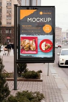Modello di tabellone per le affissioni del cibo della città food