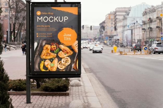 City food billboard mock-up Free Psd