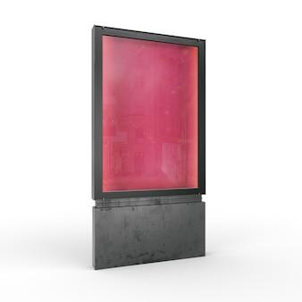 市のライトボックスまたは広告看板のモックアップ