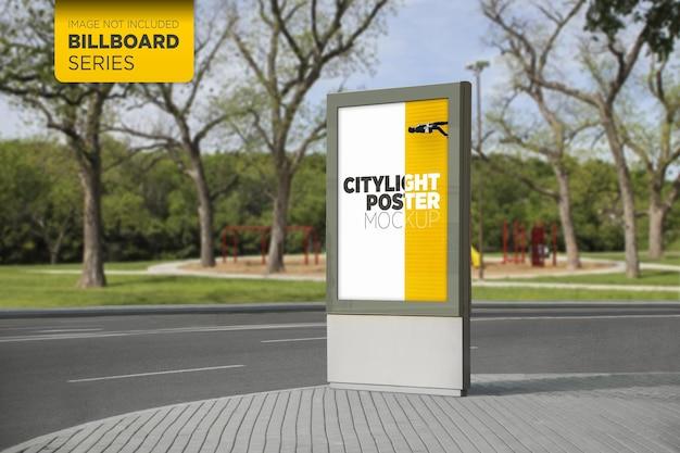 Дизайн макета городского лайтбокса