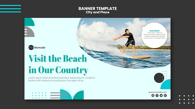 City and place banner template