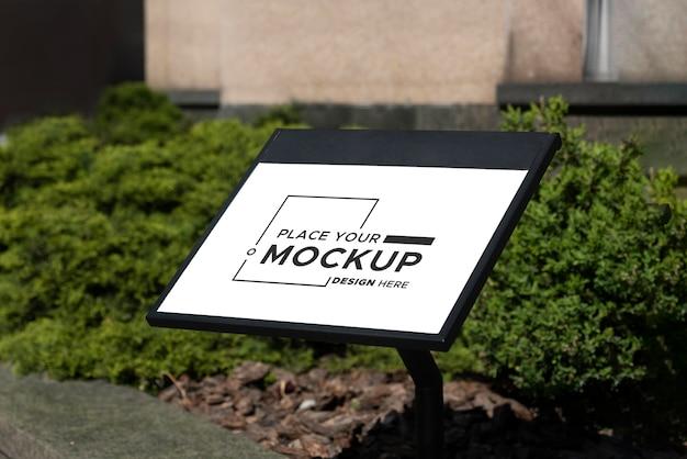City sign design mockup