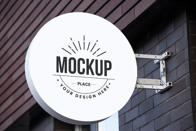 Mockup di design del segno della città