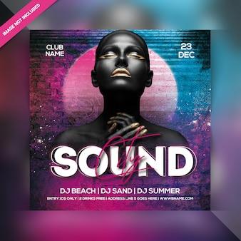 City sound party flyer