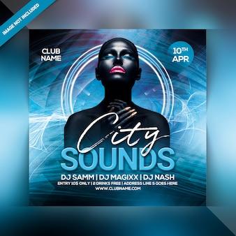 City sounds party flyer