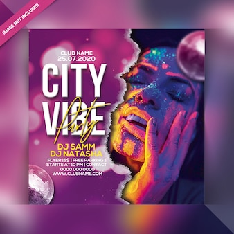 Флаер вечеринки city vibe