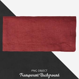 Claret red textile on transparent background