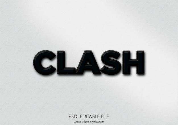 Текстовый эффект clash 3d