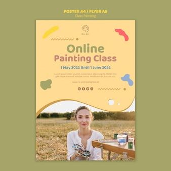 Concetto di volantino di pittura di classe